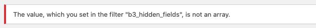 Filter array validation